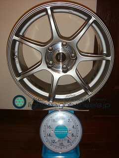 ENKEI Racing RS+m 17inch 8J offset+48mm PCD114.3mm-5H 重量計測画像その1