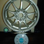 RAYS VOLK Racing CE28N 17inch 7.5J offset+50mm PCD114.3mm-5H 重量計測画像