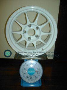 ENKEI SPORT ES-TARMAC 15inch 7J offset+35mm PCD114.3mm-5H 重量計測画像