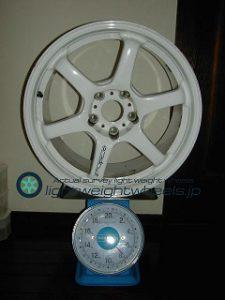 BRIDGESTONE FVS Prodrive GC-06D 17inch 8.5J offset+34mm PCD114.3mm-5H 重量計測画像