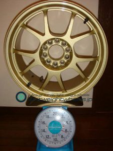 SOUTHERNWAYS S-05 17inch 7.5J offset+35mm PCD114.3mm-5H重量計測画像