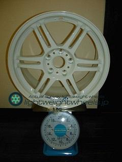 CARVING STARK MS 17inch 8.5J offset+40mm PCD114.3mm-5H 重量計測画像