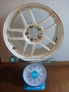 TAKECHI PROJECT RACING HART CP-035 17inch 8.5J offset+35mm PCD114.3mm-5H 重量計測画像その1