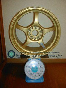 RAYS Gramlights 57C 17inch 7.5J offset+30mm PCD114.3mm-5H 重量計測画像