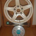 Winmax club itzz GV01 15inch 7J offset+35mm PCD114.3mm-5H 重量計測画像