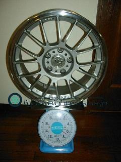 RAYS VOLK Racing LE37K 17inch 7.5J offset+30mm PCD113.3mm-5H 重量計測画像