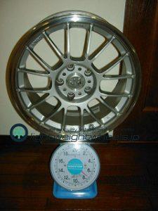 RAYS VOLK Racing LE37K 17inch 8.5J offset+40mm PCD114.3mm-5H 重量計測画像