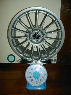OZ SUPER TURISMO EVO 17inch 7J offset+48mm PCD100mm-5H 重量計測画像