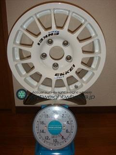 ENKEI SPORT RC-G4 15inch 6.5J offset+38mm PCD114.3mm-5H 重量計測画像