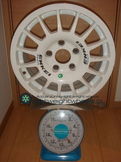 ENKEI SPORT RC-G4 15inch 7J offset+50mm PCD114.3mm-5H 重量計測画像