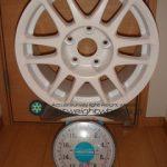 DUNLOP DIREZZA RZS 4GR 15inch 7J offset+33mm PCD114.3mm-5H 重量計測画像