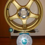 YOKOHAMA ADVAN Racing TCⅡ 17inch 7.5J offset+31mm PCD114.3mm-5H 重量計測画像