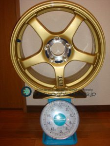 YOKOHAMA ADVAN Racing TCⅡ 17inch 7.5J offset+31mm PCD114.3mm-5H 重量計測画像