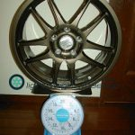 WORK EMOTION 17inch 7.5J offset+48mm PCD114.3mm-5H 重量計測画像