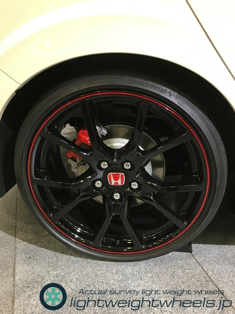honda civic type-r fk8 rear wheel