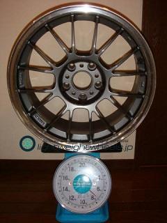 RAYS VOLK Racing LE37K 17inch 8.5J offset+30mm PCD114.3mm-5H 重量計測画像