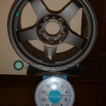 REAL STARFORM REALRacing2 15inch 7J offset+45mm PCD114.3mm-5H 重量計測画像