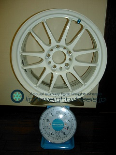 REAL STARFORM REALRacing/ModelⅡ 17inch 7.5J offset+38mm PCD114.3mm-5H 重量計測画像