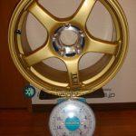 YOKOHAMA ADVAN Racing TCⅡ 17inch 8.5J offset+37mm PCD114.3mm-5H 重量計測画像