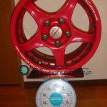 YOKOHAMA ADVAN Racing RC 15inch 6.5J offset+45mm PCD114.3mm-5H 重量計測画像