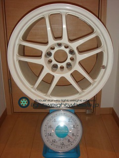 TAKECHI PROJECT RACING HART CP-035 17inch 8.5J offset+35mm PCD114.3mm-5H 重量計測画像その2