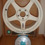 SSR INTEGRAL GT2 17inch 7.5J offset+32mm PCD114.3mm-5H 重量計測画像