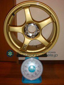 YOKOHAMA ADVAN Racing TCⅡ 17inch 8.5J offset+31mm PCD114.3mm-5H 重量計測画像