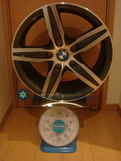 BMW star spoke styling 379 17inch 7.5 offset+43mm PCD120mm-5H重量計測画像