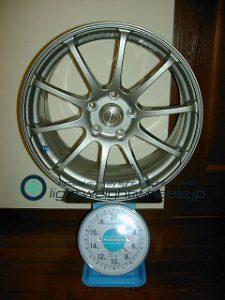 YOKOHAMA ADVAN Racing RS 17inch 8J offset+47mm PCD112mm-5H重量計測画像