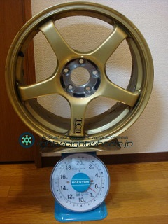 YOKOHAMA ADVAN Racing TCⅡ 17inch 7.5J offset+48mm PCD100mm-5H 重量計測画像