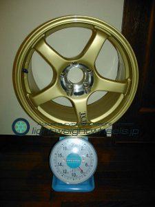 YOKOHAMA ADVAN Racing TCⅡ 17inch 9.5J offset+35mm PCD114.3mm-5H 重量計測画像
