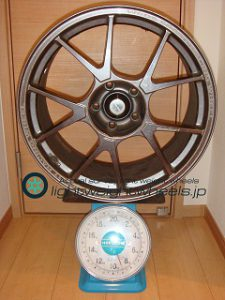 WEDS SPORT TC-005 18inch 9J offset+34mm PCD114.3mm-5H 重量計測画像