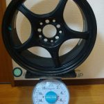5ZIGEN BECKETTS FN-01R 17inch 7.5J offset+45mm PCD114.3mm-5H重量計測画像その2