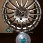 OZ SUPER TURISMO GT 17inch 7.5J offset+50mm PCD114.3mm-5H 重量計測画像