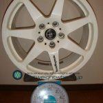 Tecnomagnesio TM-F01 17inch 7.5J offset+35mm PCD112mm-5H 重量計測画像