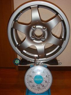 Tecnomagnesio TM-SPORT 15inch 7J offset+35mm PCD100mm-4H 重量計測画像