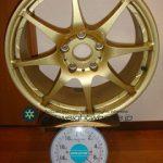 IJAK(TWS) ACHTEC RF42 17inch 7.5J offset+45mm PCD114.3mm-5H重量計測画像