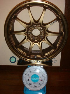 RAYS VOLK Racing CE28N 17inch 7.5J offset+43mm PCD100mm-5H 重量計測画像2