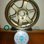 RAYS VOLK Racing TE37 15inch 6.5J offset+20mm PCD114.3mm-4H重量計測画像