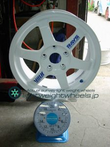 RAYS VOLK Racing TE37 16inch 7.5J offset+42mm PCD114.3mm-5H重量計測画像