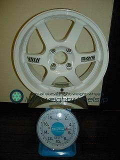 RAYS VOLK Racing TE37CUP 15inch 6.5J offset+43mm PCD100mm-4H重量計測画像