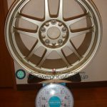 TAKECHI PROJECT RACING HART CP-035 17inch 8J offset+45mm PCD114.3mm-5H 重量計測画像