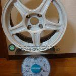 TRD TF3 15inch 7J offset+48mm PCD100mm-4H 重量計測画像