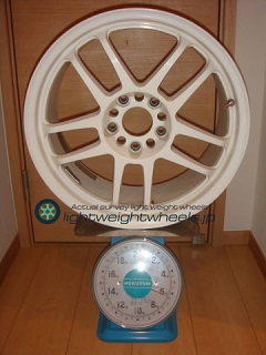 TAKECHI PROJECT RACING HART CP-035 17inch 7.5J offset+35mm PCD114.3mm-5H 重量計測画像