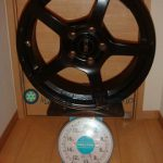 OZ Trino 17inch 7J offset+45mm PCD114.3mm-5H重量計測画像