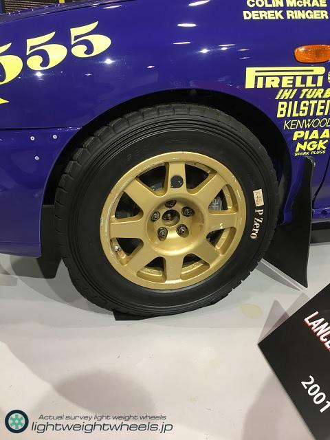 Gr.Aスバル インプレッサ555 WRC98アクロポリスラリー優勝車前輪