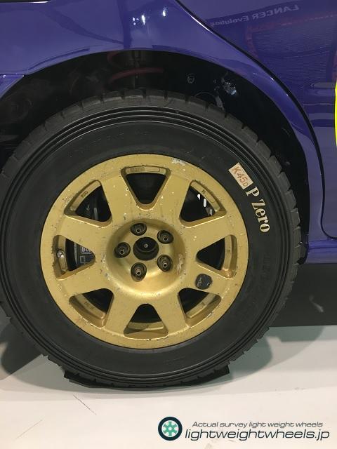 Gr.Aスバル インプレッサ555 WRC98アクロポリスラリー優勝車後輪