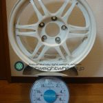 CRIMSON SPARCO Racing Viper-R 15inch 6.5J offset+33mm PCD114.3mm-5H 重量計測画像