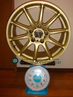 BRIDGESTONE FVS Prodrive GC-010E 17inch 8J offset+43mm PCD114.3mm-5H 重量計測画像