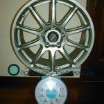 BRIDGESTONE FVS Prodrive GC-010E 17inch 7.5J offset+42mm PCD114.3mm-5H 重量計測画像